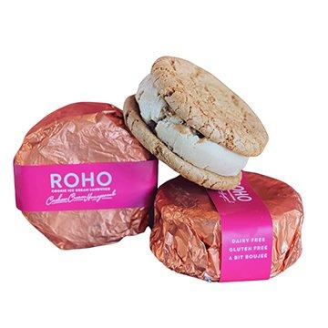 Roho Vegan Cookie Ice Cream Sandwich Cashew Cream Honeycomb 175g x 12