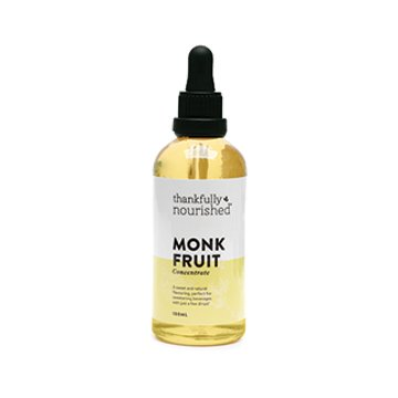 Thankfully Nourished Monk Fruit Concentrate 100ml glass with dropper