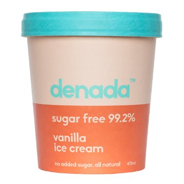Denada Sugar Free Ice Cream VANILLA 475ml x 6
