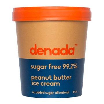 Denada Sugar Free Ice Cream PEANUT BUTTER 475ml x 6