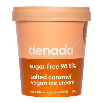 Denada Sugar Free Vegan Ice Cream SALTED CARAMEL 475ml x 6