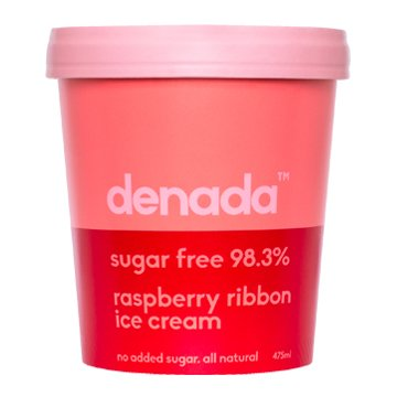 Denada Sugar Free Ice Cream RASPBERRY RIBBON 475ml x 6