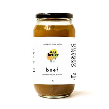 Way Better Organic Bone Broth BEEF 1Ltr x 6