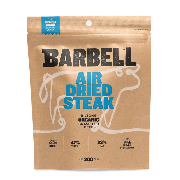 Barbell Foods Organic Grass Fed Beef Air Dried Steak The Bench Mark 200g