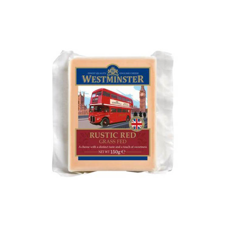 Westminster Rustic Red Grass Fed Cheese 10 x 150g