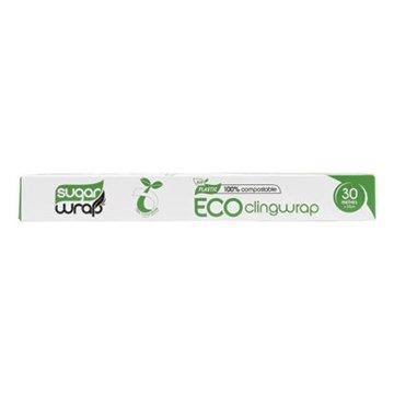 SugarWrap 100% Compostable Cling Wrap 30m x 33cm