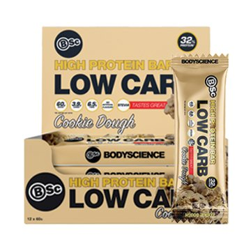 Body Science High Protein Low Carb Bar Cookie Dough 60g x 12
