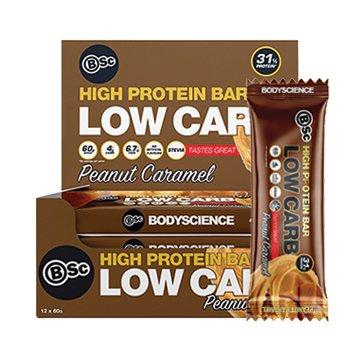 Body Science High Protein Low Carb Bar Peanut Caramel 60g x 12