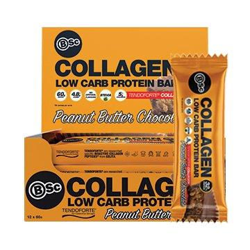 Body Science Collagen Protein Bar PEANUT BUTTER CHOC 60g x 12
