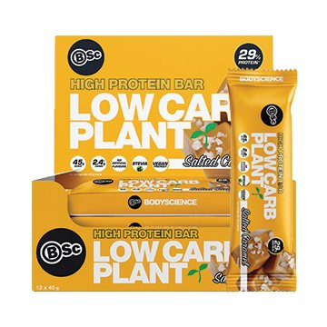 Body Science Low Carb Plant Bar SALTED CARAMEL 45g x 12