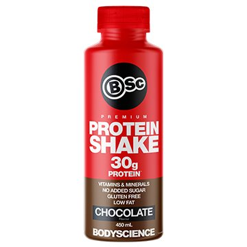 Body Science RTD Muscle Protein Shake Double Rich Chocolate 450ml x 6