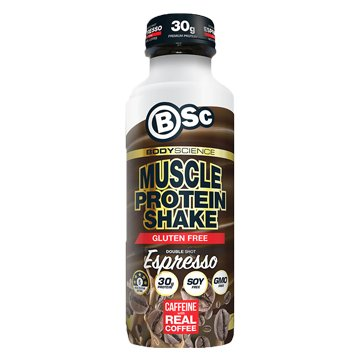 Body Science RTD Muscle Protein Shake Double Shot Espresso 450ml x 6