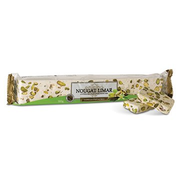 Nougat Limar Nougat Vanilla Pistachio Log 300g