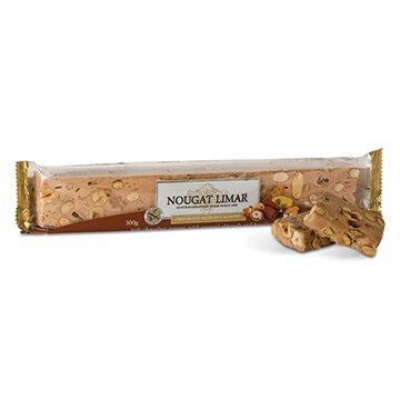 Nougat Limar Nougat Chocolate Almond & Hazelnut Log 300g