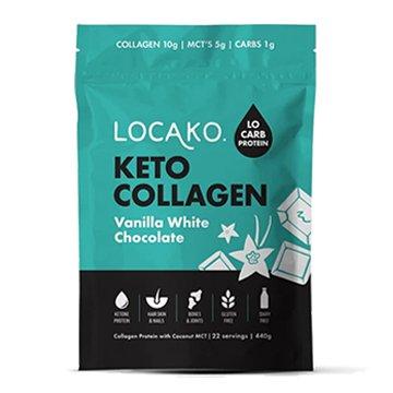 Locako Keto Collagen Vanilla White Chocolate 440g
