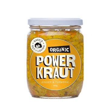 Gagas Organic Powerkraut Ginger & Turmeric 450g x 6