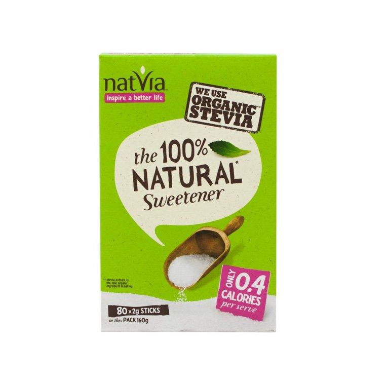 Natvia 100% Natural Sweetener 160g (80 x 2g Sachets)