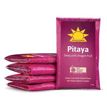 Amazonia Frozen Organic Pink Pitaya Food Service 100g x 60