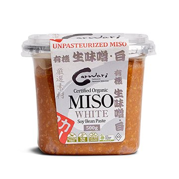 Carwari Organic Miso WHITE Soy Bean Paste 500g
