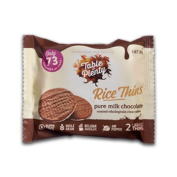 Table of Plenty Milk Chocolate Rice Thins 30g x 10