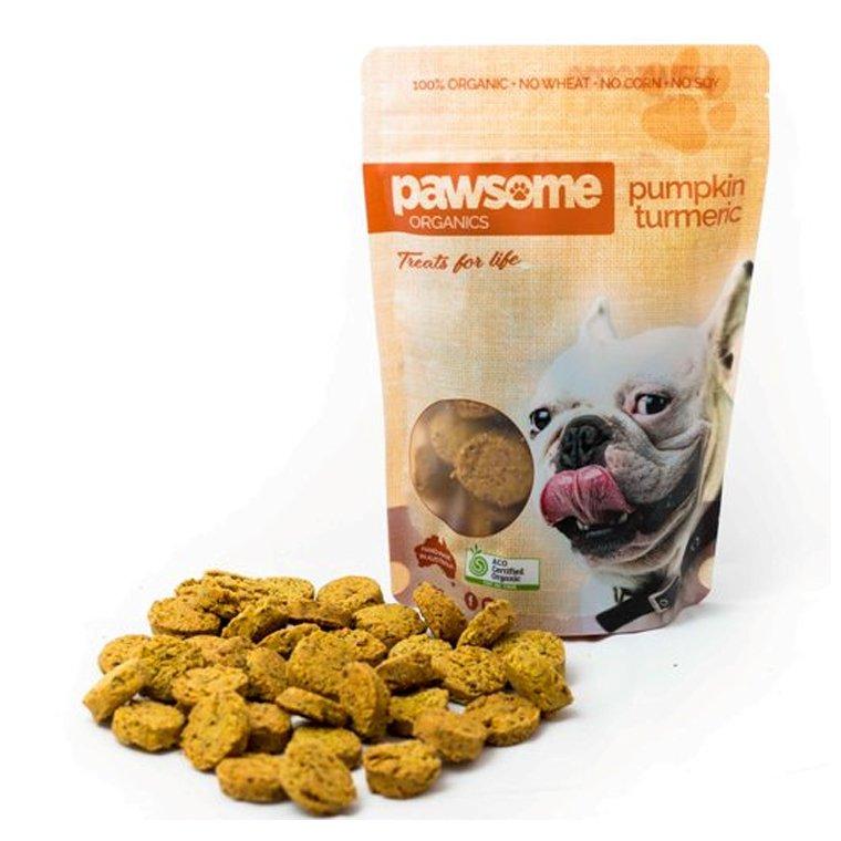 Pawsome Organics Dog Treats PUMPKIN & TURMERIC 200g