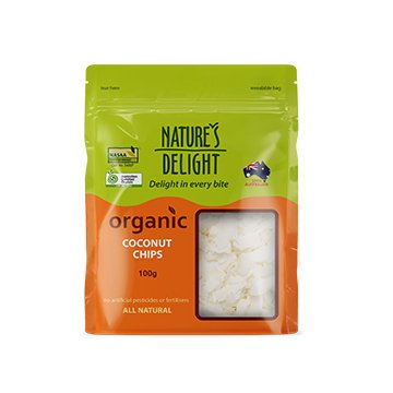 Natures Delight Organic Coconut Chips 100g