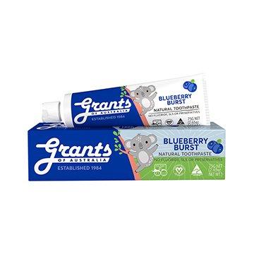 Grants Natural Toothpaste Kids Blueberry Burst 75g