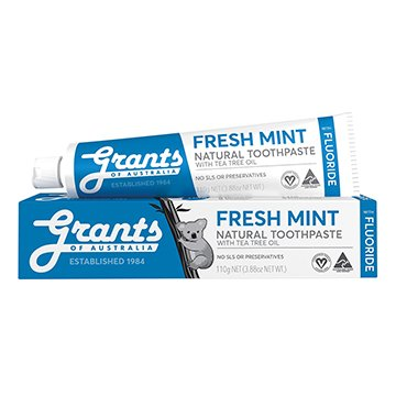 Grants Fresh Mint Toothpaste with Fluoride 110g