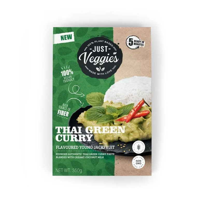 Just Veggies Young Jackfruit in Thai Green Curry Sauce 350g