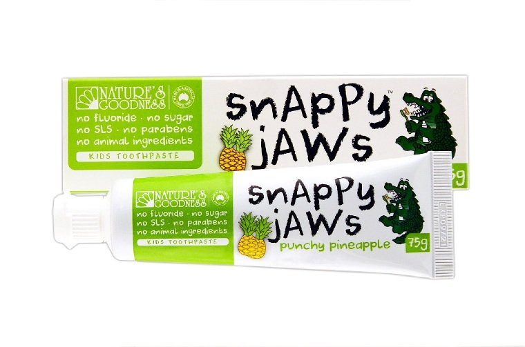 Natures Goodness Snappyjaws Kids Toothpaste Pineapple 75g