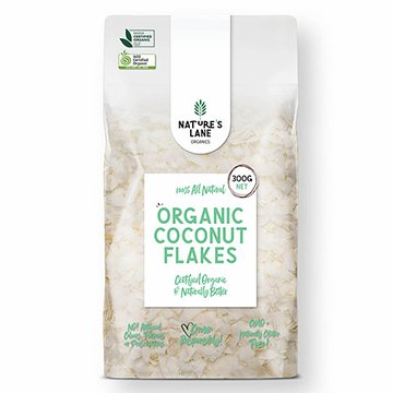 Natures Lane Organics Coconut Flakes 300g