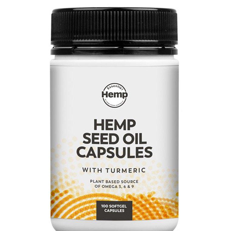 Hemp Foods Hemp Oil + Turmeric Capsules 100caps