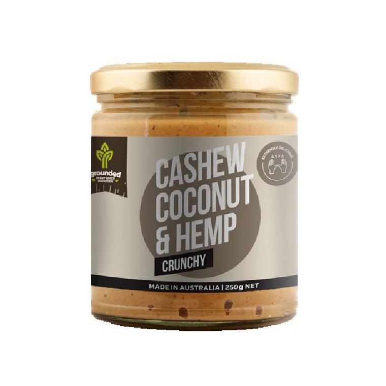 Grounded Cashew Coconut and Hemp Spread CRUNCHY 250g