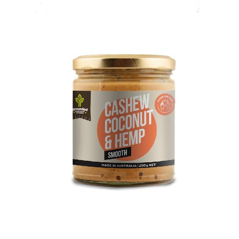 Grounded Cashew Coconut and Hemp Spread SMOOTH 250g