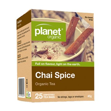 Planet Organic Chai Spice Tea 25t-bags