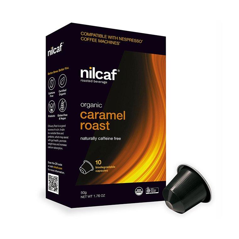Nilcaf Caffeine Free Organic Caramel Roast 5g Capsules x 10