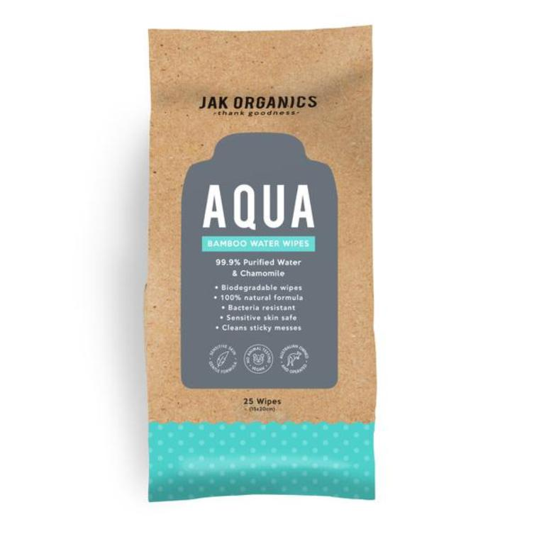 Jak Organics AQUA Pure Cleansing 25 Wipes