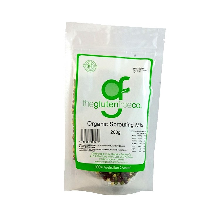 The Gluten Free Co Organic Sprouting Mix g/f 200g