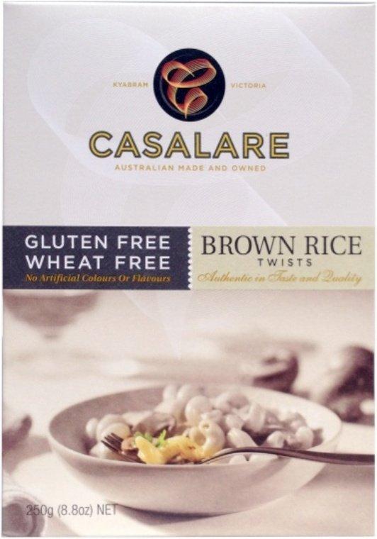 Casalare W&G Free Brown Rice Twists 250g