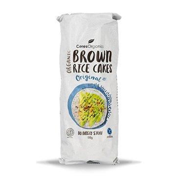 Ceres Organic Brown Rice Cakes Original 110g x 12
