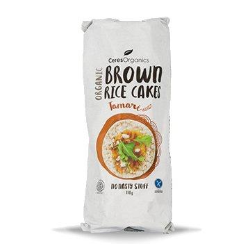 Ceres Organic Brown Rice Cakes Tamari 110g x 12