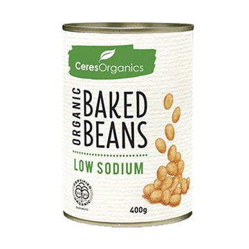Ceres Organic Baked Beans Low Sodium 400g Can