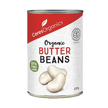 Ceres Organic Butter Beans 400g Can