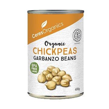 Ceres Organic Chickpeas/Garbanzo Beans 400g Can