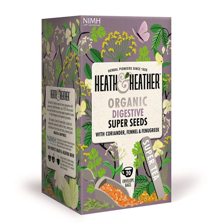Heath and Heather Organic After Dinner Seed Supreme 20 Tea Bags