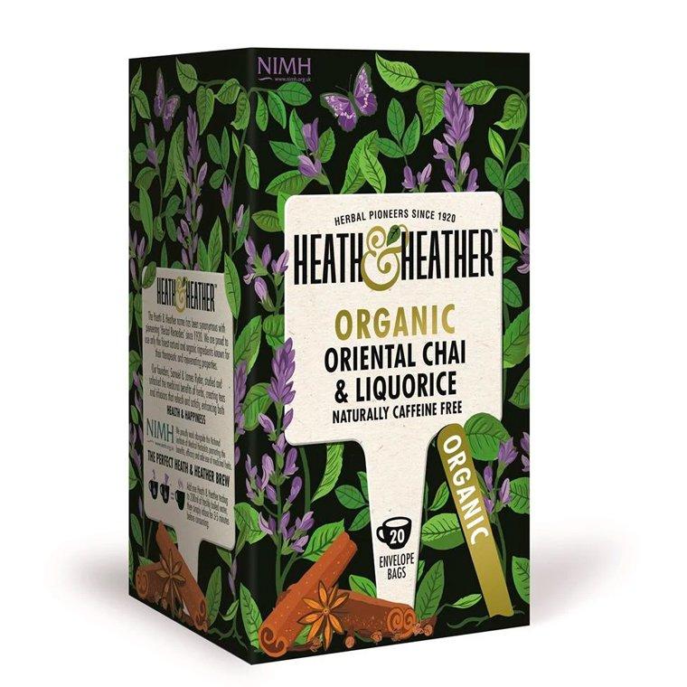 Heath and Heather Organic Chai and Liquorice 20 Tea Bags
