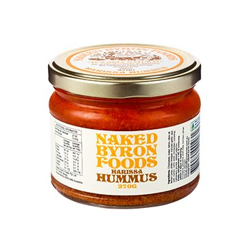 Naked Byron Habanero Hummus 270g x 6 - Pemco Agencies Pty Ltd