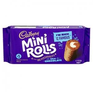 Cadbury Miniroll Milk Chocolate115g x 12