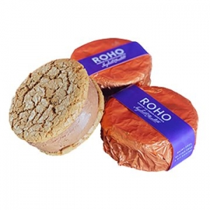 Roho Vegan Cookie Ice Cream Sandwich Hazelnut Chocolate 175g x 12