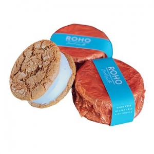 Roho Vegan Cookie Ice Cream Sandwich Coconut Vanilla 175g x 12